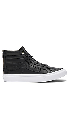 SK8-HI Slim Zip Sneaker en Black & True White
