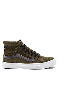 Sk8-Hi Slim Cutout Sneaker – Tarmac & True White