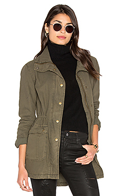 Alene Parka Jacket in Deep Green