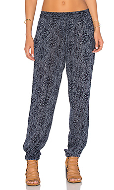 Janalee Printed Pant in Navy