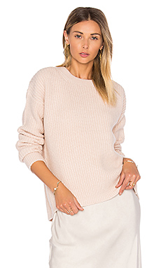 Half Cardigan Crew Sweater in Sand
