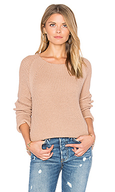 Waffle Stitch Pullover en Pink Cantare