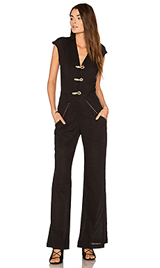 Solid Flaire Jumpsuit – 黑色