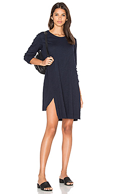 Long Sleeve Shifted Trapeze Dress – Banker