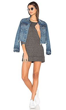 Sweatshirt Mini Dress en Basic Black