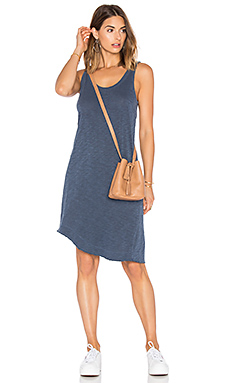 Slub Twisted Hem Tank Dress en Midnight