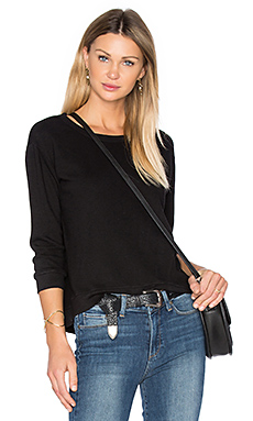Shrunken Crop Sweatshirt in Basic Black