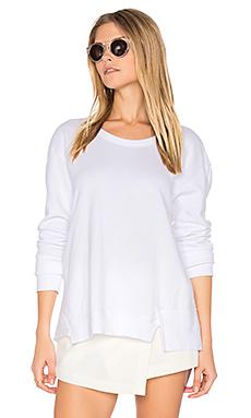 Seamed Mixed Sweatshirt – 白色
