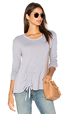 Drawstring Tie Front Sweatshirt en Meadow