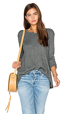 Shifted Crew Trapeze Long Sleeve Top en Bottle Heather