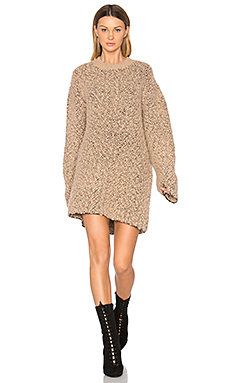Oversized Teddy Boucle Sweater en Desert Noise