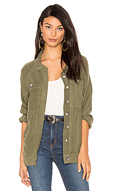 Long Slouchy Jacket en Army
