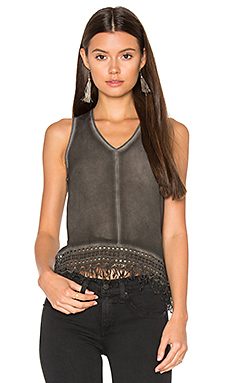 Fringe Tank in Black
