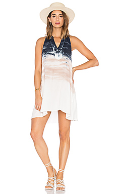Natasha Dress in Charcoal Water Ripple Wash