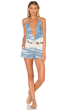 Kenzie Romper in Chambray Water Ripple Wash