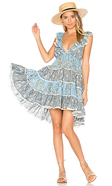 Caravan Tiered Sun Dress en Splice