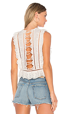 Valour Frill Tank in White